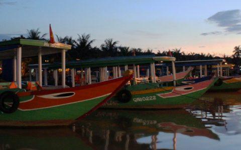 Boats at Hoi An, Vietnam